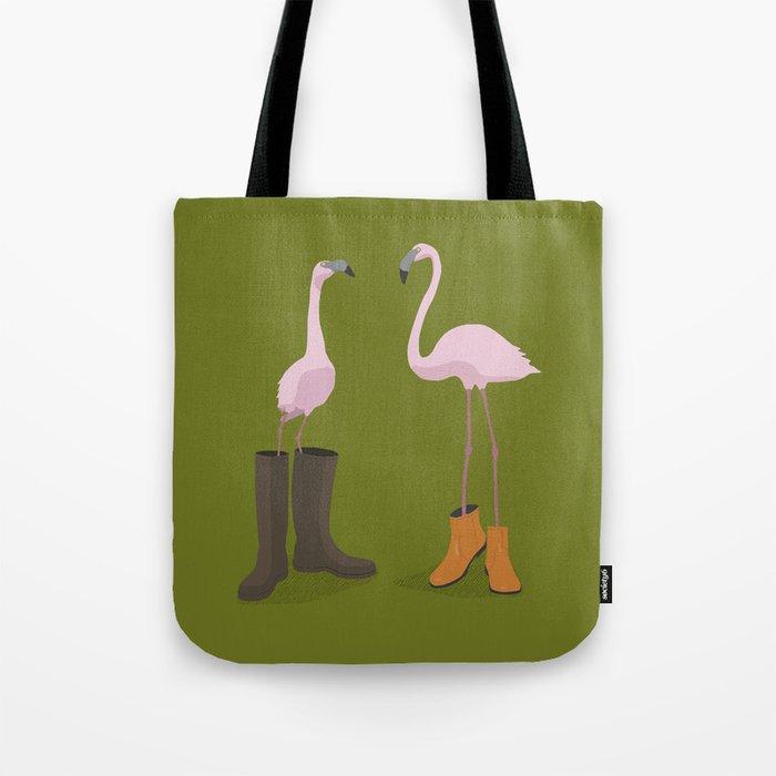 Fashion Flamingos Tote Bag