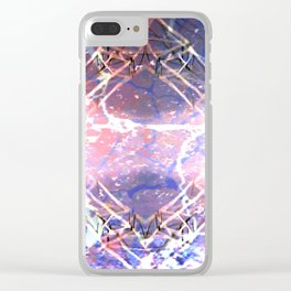 Abstract Ripple Reflection Clear iPhone Case