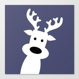 Reindeer on blue background Canvas Print