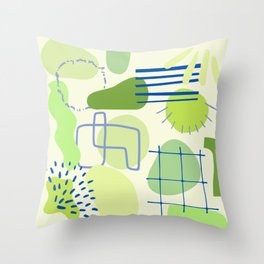Suburbia from Above - Abstract Postmodern Retro Pattern Throw Pillow