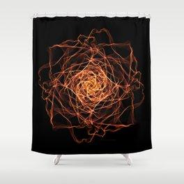 Fire Rose Shower Curtain