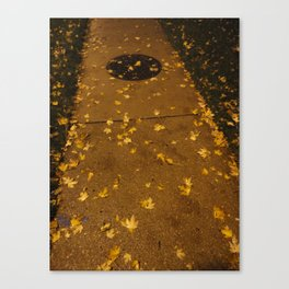 Poured Gold Canvas Print