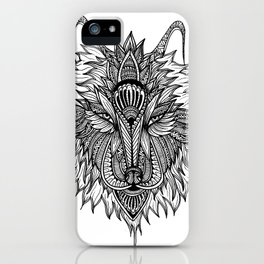 The Lone Wolf - BW iPhone Case