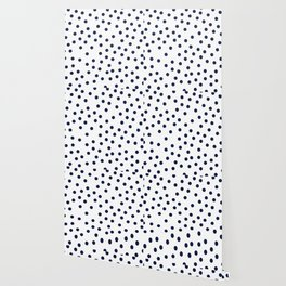 Simply Dots in Nautical Navy Wallpaper