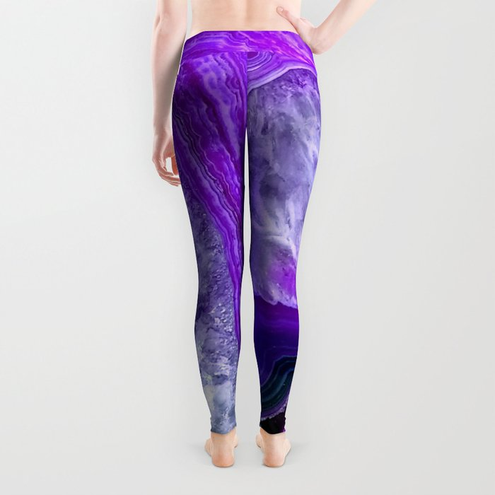 purple stone Leggings