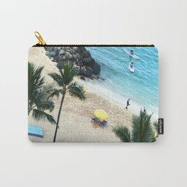 Waikiki Beach Fun, Hawaiian Tropical Paradise, rectangle Carry-All Pouch