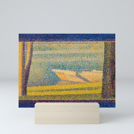 """Georges Seurat """"Moored Boats and Trees"""" Mini Art Print"""