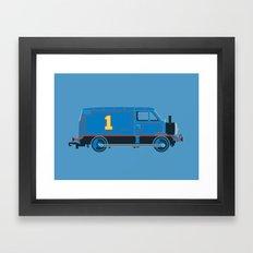 Tommy the Van Engine Framed Art Print