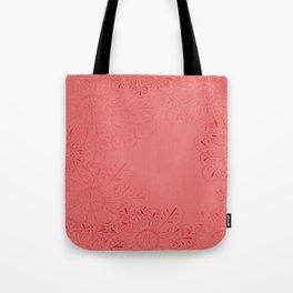 Salmon Flowers Tote Bag