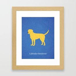 Canadian Dogs: Labrador Retriever Framed Art Print