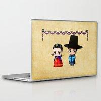 korean Laptop & iPad Skins featuring Korean Chibis by artwaste
