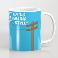 toy story Mugs featuring Toy Story - Falling With Style by Gary Wood