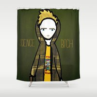 jesse pinkman Shower Curtains featuring Jesse Pinkman (Breaking Bad) by Ashley Nada by Ashley Nada