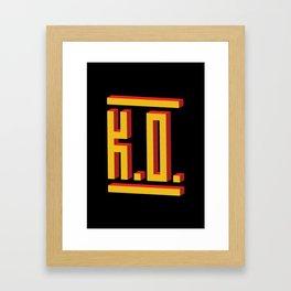 PAUSE – K.O. Framed Art Print