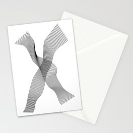 """Linear Collection"" - Minimal Letter X Print Stationery Cards"