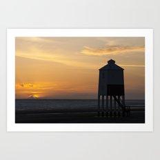 Sunset at the Lighthouse Art Print