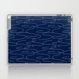 Japanese Sashiko Embroidery Stitches Pattern Laptop & iPad Skin