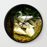 duck Wall Clocks featuring duck by gzm_guvenc