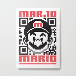 MARIO BROS Metal Print