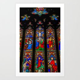 INRI Stained Glass Art Print