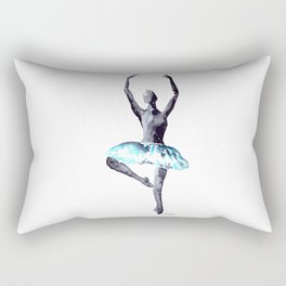 Dancer in blu Rectangular Pillow