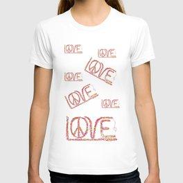 Peace/Love ART T-shirt