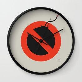 No Bombing Allowed Wall Clock