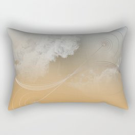 Bezier Curved Ocean Rectangular Pillow
