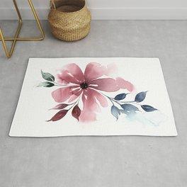 Modern Watercolor Florals No. 4 Rug