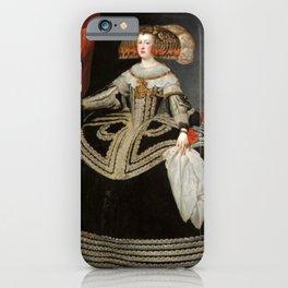 Diego Velázquez - Erzherzogin Maria Anna, Königin von Spanien iPhone Case