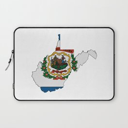 West Virginia Map with State Flag Laptop Sleeve