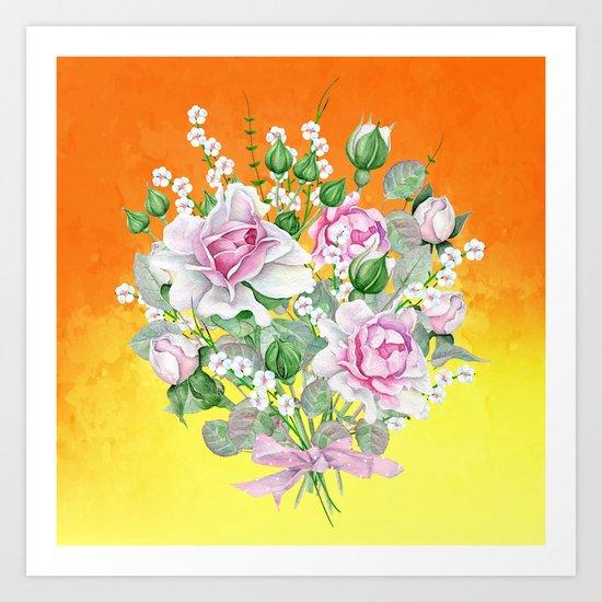 Flowers bouquet #22 Art Print