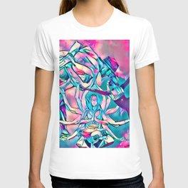 Energy Flow ( Pink Yoga V ) T-shirt