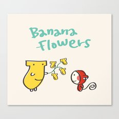 Banana Flowers Canvas Print