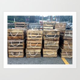 the Nautical Press / lobster crates Art Print