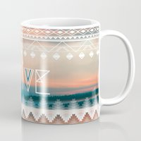 native Mugs featuring Native by Sophie Kurtness
