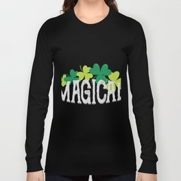 Magical Love Unicorn St Patricks Day Kids Girl Women Long Sleeve T-shirt