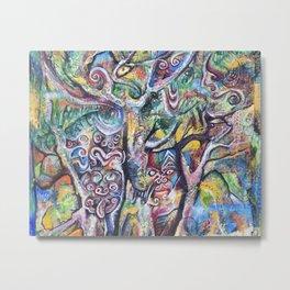 Music of the Rainforest before Dark Metal Print