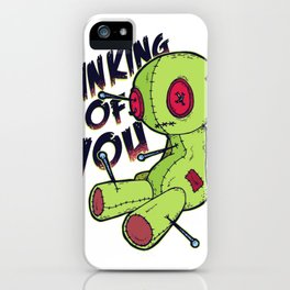 voodoo doll funny  iPhone Case