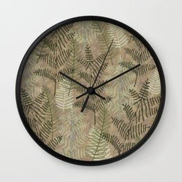 Ferns Beige Wall Clock