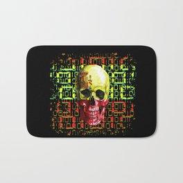 digital Skull (flag of spain) Bath Mat