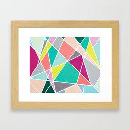 Geometric Spotlights Framed Art Print