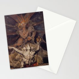 The number of the beast is 666 by William Blake Stationery Cards