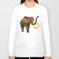 texture Long Sleeve T-shirts featuring Elephant's Dream by Waelad Akadan