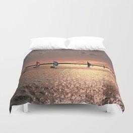 Sunset Sail In Bermuda Duvet Cover