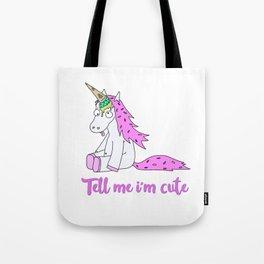 Ice Cream Unicorn - Tell me I'm Cute Tote Bag