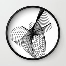 """""""Script Collection"""" - Minimal Letter A Print Wall Clock"""
