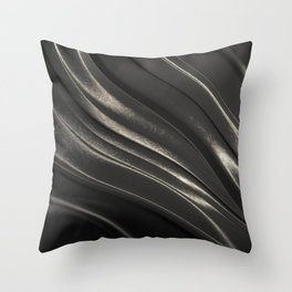 Black Steel Throw Pillow