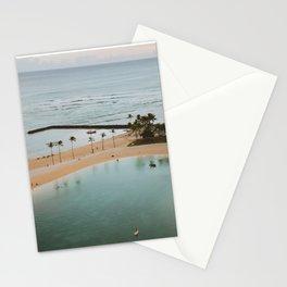 Waikiki Beach, Honolulu, Island of Hawaii Stationery Cards