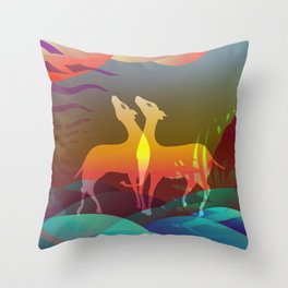 Space of Non-Duality Throw Pillow